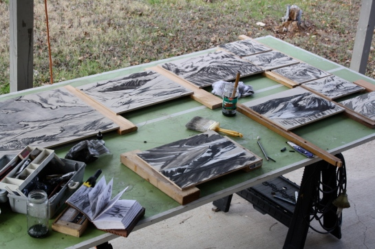 Prepping New Woodblocks1