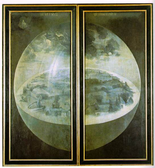 Closed Outer Panels of Bosch's Garden of Earthly Delights