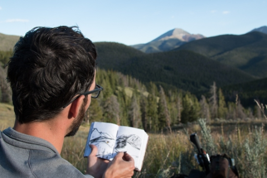 We came up on so many great views but it was easy to choose when to sketch. You just know.