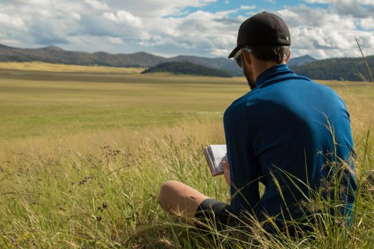 Enjoying a beautiful dirt road ride out into the grasslands of the caldera. There were many opportunities to sketch and photograph.