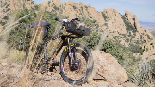 My trusty steed: CHUMBA USA STELLA, with Shimano XT 11speed, Maxxis 27plus Rekon tires and complete Multi-cam bikepacking bagset from Wanderlust Gear.